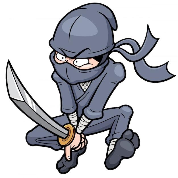 Cartoon ninja Premium Vector