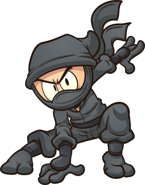 Cartoon ninja Vector | Premium Download