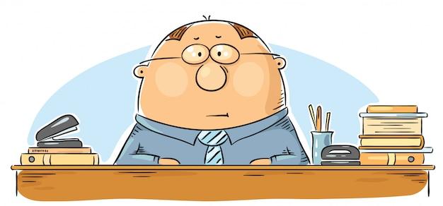 Cartoon office worker Premium Vector