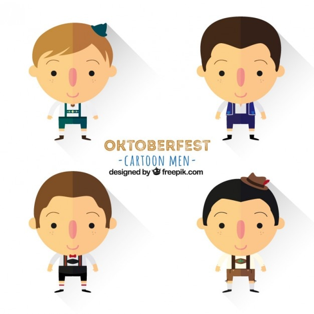 Cartoon oktoberfest men Vector | Free Download