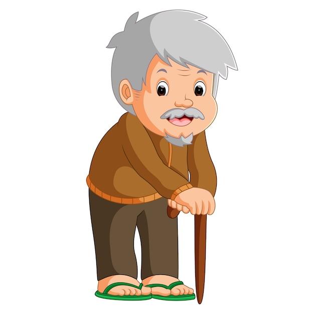 Vườn Đào mãi nhớ - Page 10 Cartoon-old-man-with-walking-stick_33070-835