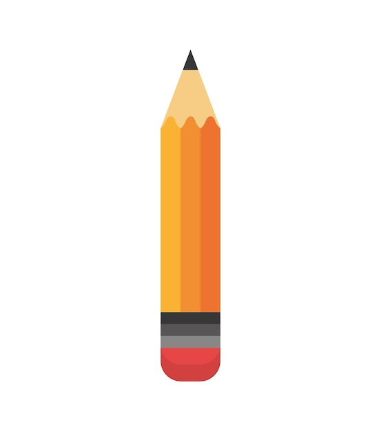 Cartoon Pencil Write School Design Vector Premium Download