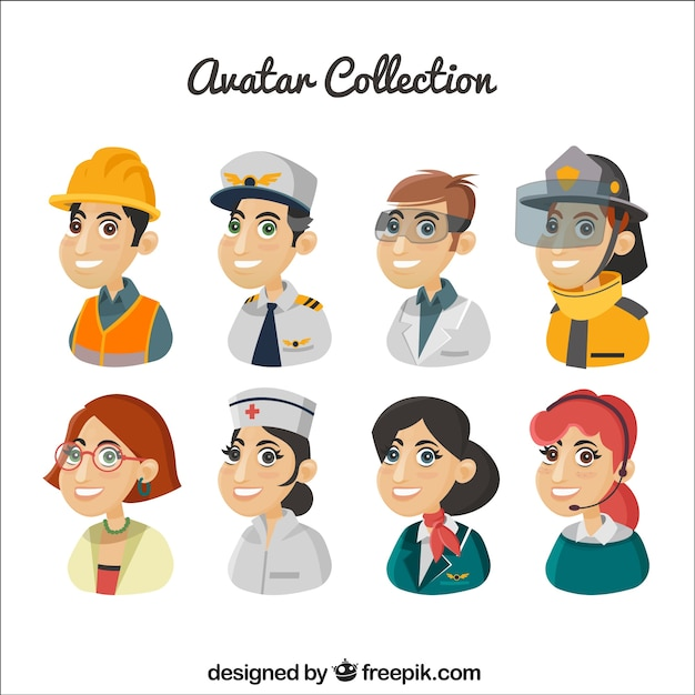 Cartoon professions avatar pack