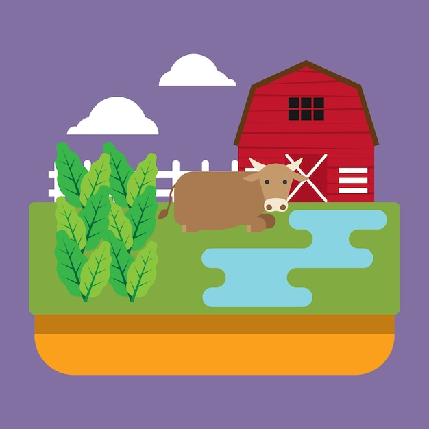 Ranch House Cartoon - Royalty Free - GoGraph