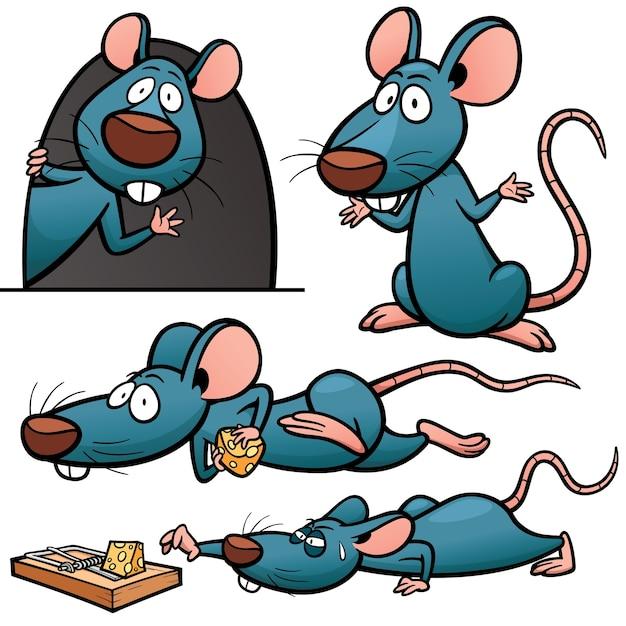 Cartoon rat character Premium Vector