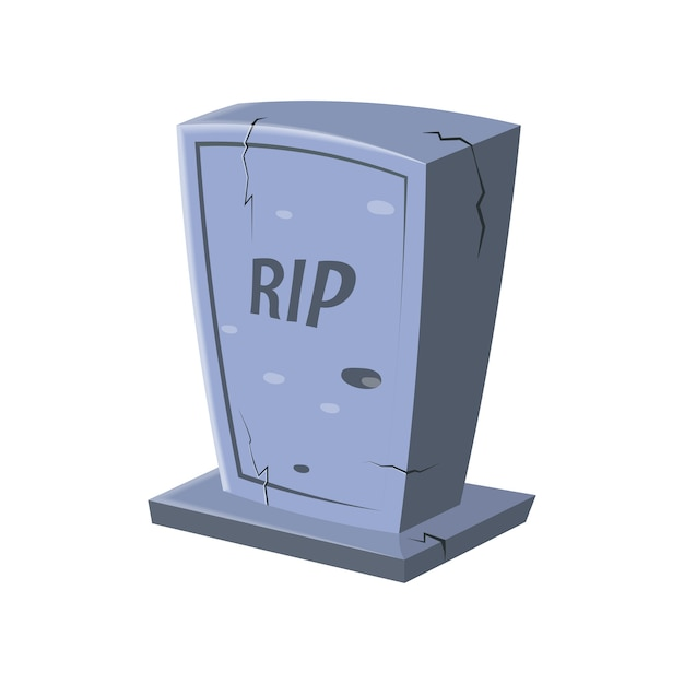 Cartoon rip icon Premium Vector