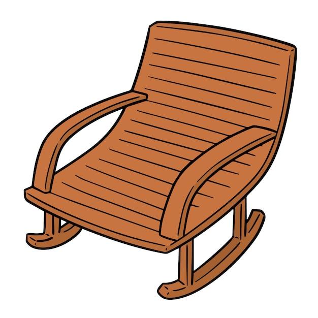 Cartoon rocking chair | Premium Vector