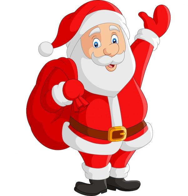 premium vector cartoon santa claus carrying sack https www freepik com profile preagreement getstarted 6026448