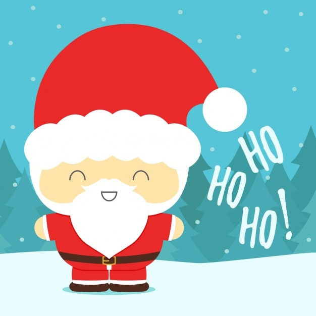 cartoon santa claus vector free download