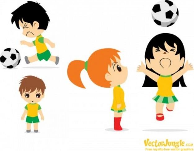 Cartoon Soccer Football Players Free Vector