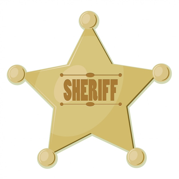 Cartoon star sheriff Premium Vector