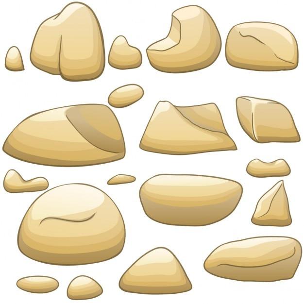 Stone Block Clip Art : Cartoon stones vector free download