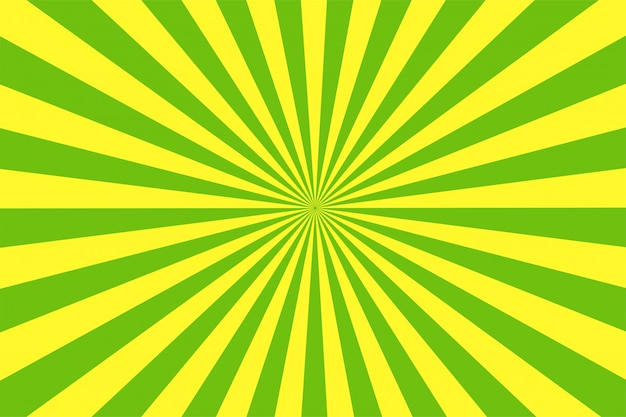 The cartoon style green and yellow background. Premium Vector