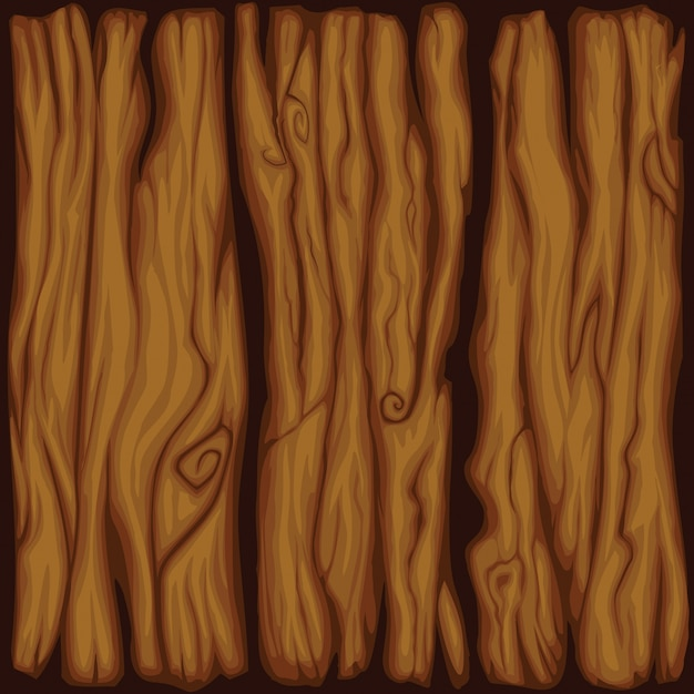 Vector cartoon bordo struttura di legno Vettore gratuito