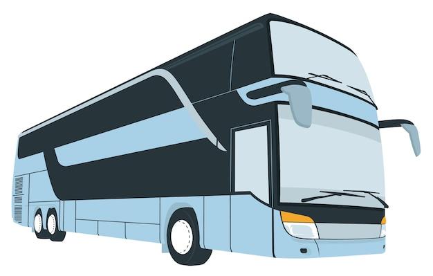Cartoon of tourist coach bus Premium Vector