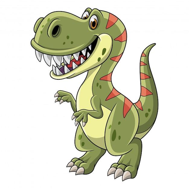 Cartoon tyrannosaurus isolated on white background Premium Vector