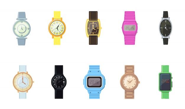 Мультфильм наручные часы Бесплатные векторы