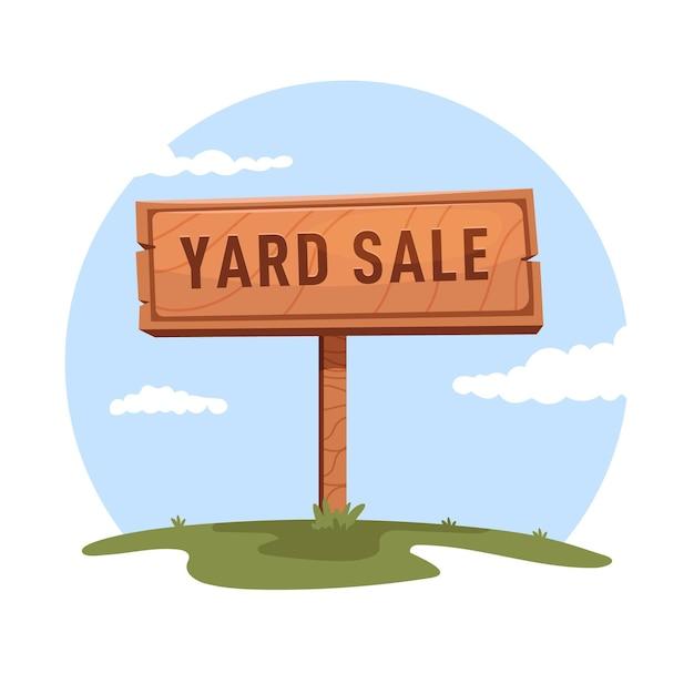 Cartoon yard sign Free Vector