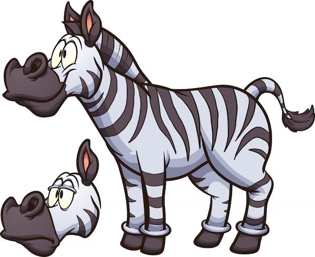 Cartoon zebra Premium Vector