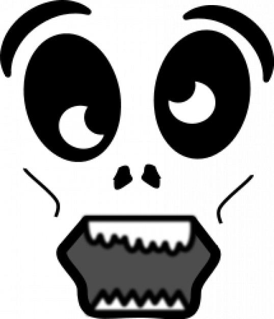 Cartoon Zombie Face Free Vector