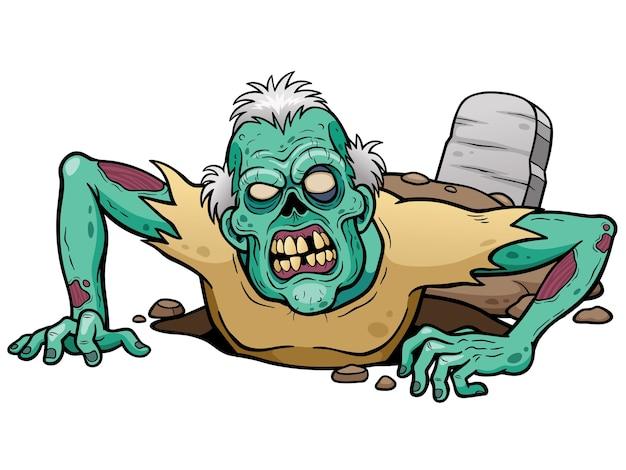 Cartoon zombie Premium Vector