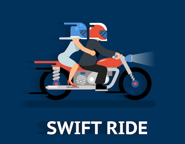 Cartooned swift ride concept illustrazione. Vettore gratuito