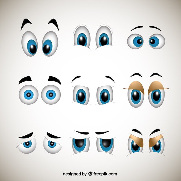 Cartoons eyes Premium Vector