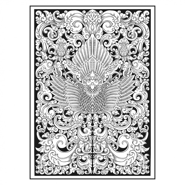 Carved openwork pattern Premium Vector