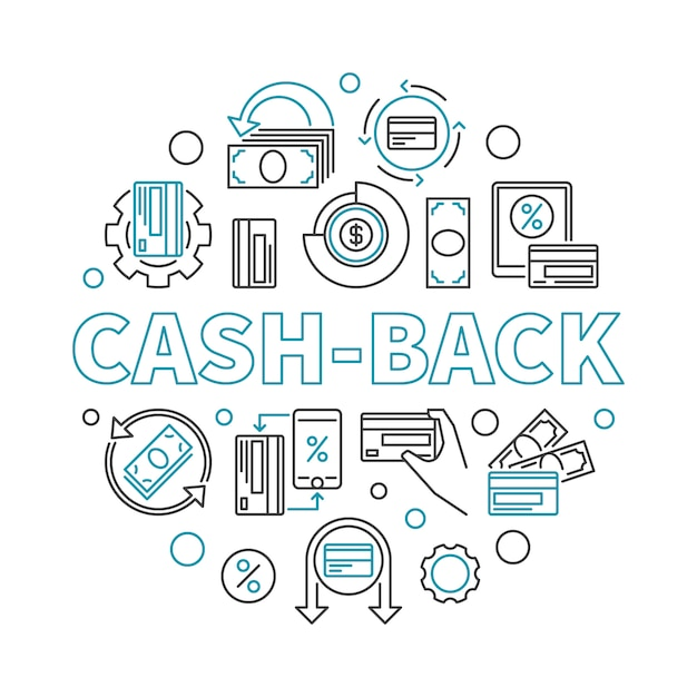 premium vector cash back linear round icon illustration cashback icon https www freepik com profile preagreement getstarted 6522273