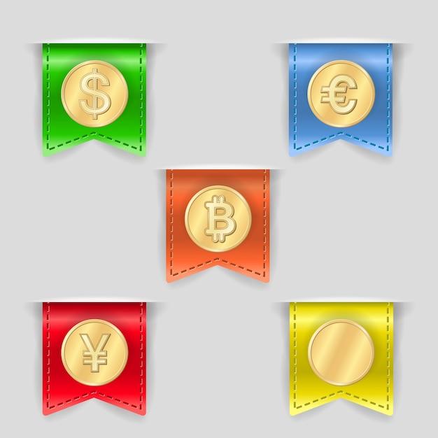 Cash icons set Free Vector