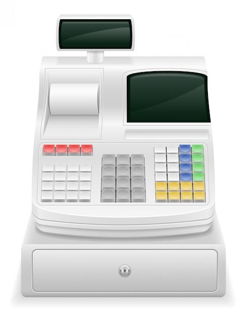 Cash register stock vector illustration Premium Vector