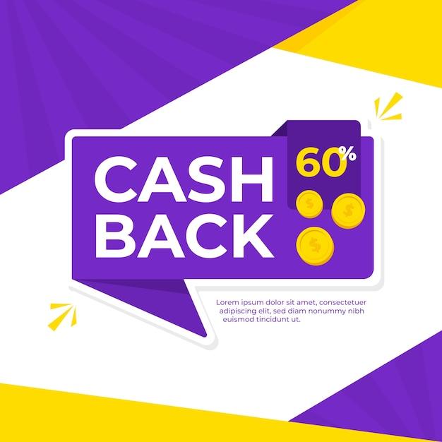 Cashback background concept Free Vector