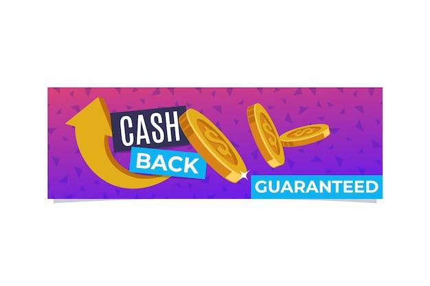 Modello di banner cashback illustrato Vettore gratuito