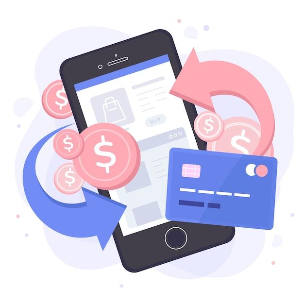 Cashback concept of offer theme Premium Vector