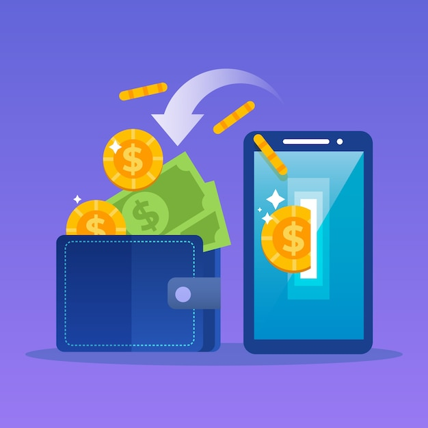 Cashback concept Free Vector