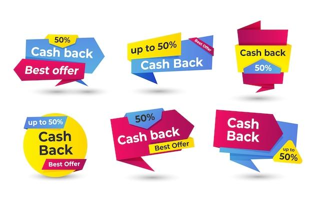 Cashback labels concept Free Vector