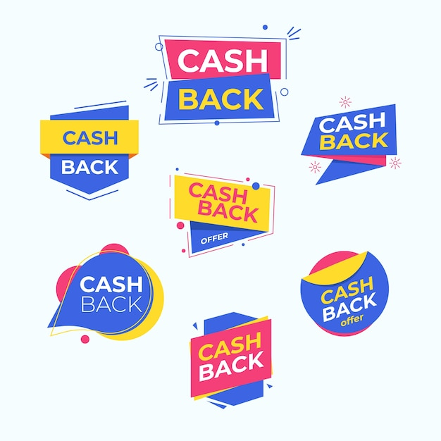 Cashback labels with special offer Free Vector