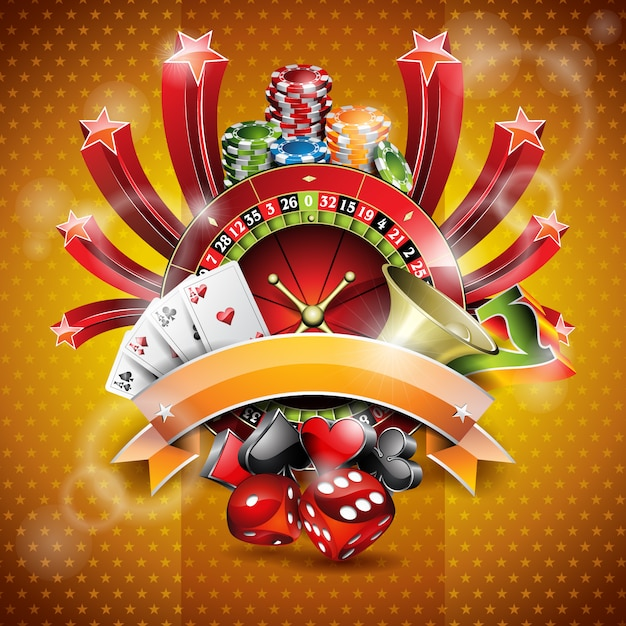 Casino Background Design Vector