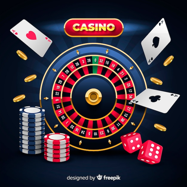 Casino background in realistic style | Free Vector