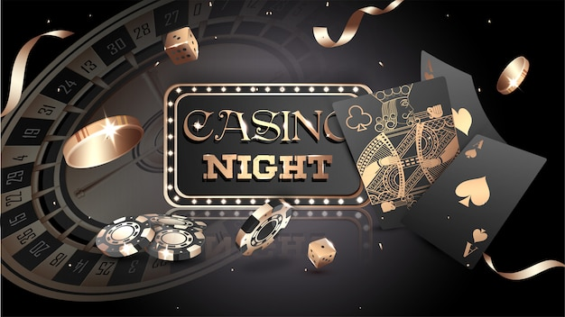 Casino background. Premium Vector