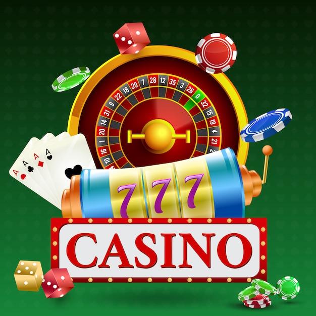 Casino background. Premium Vector