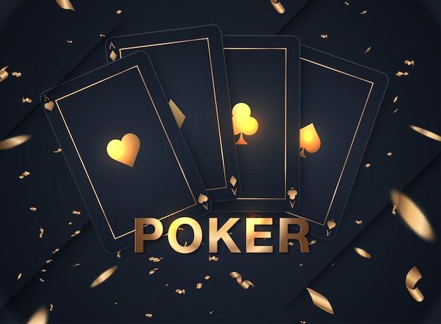 Casino card design collection Premium Vector
