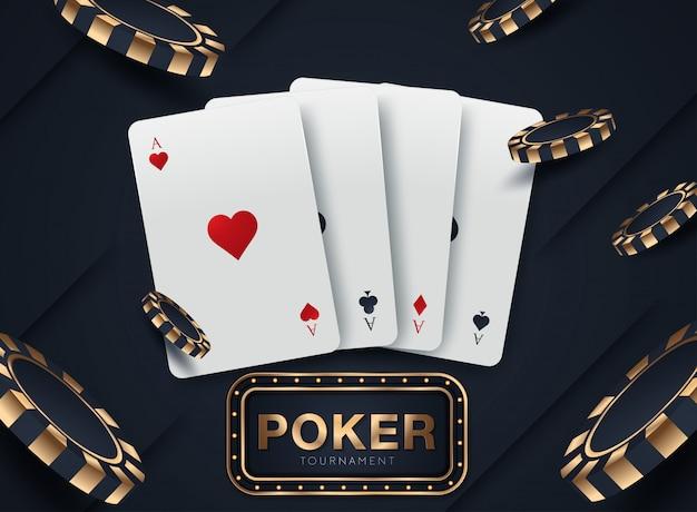 Casino card design Premium Vector