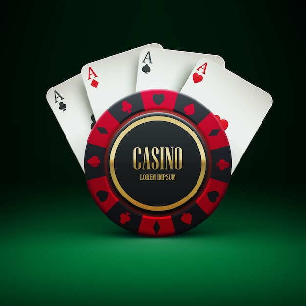 Casino chip with place for textrealistic theme Premium Vector