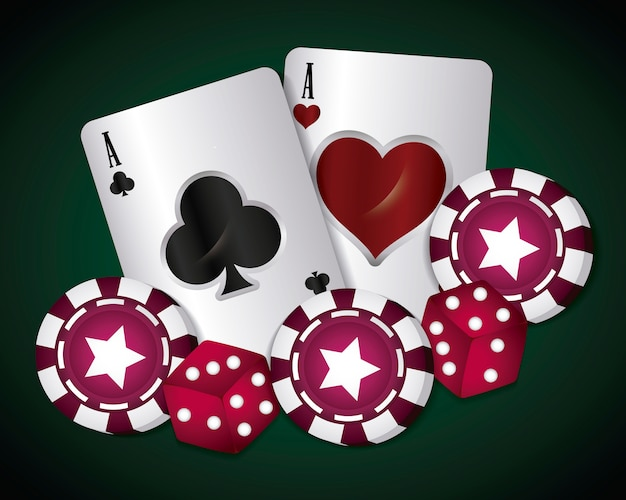 Casino concept Free Vector