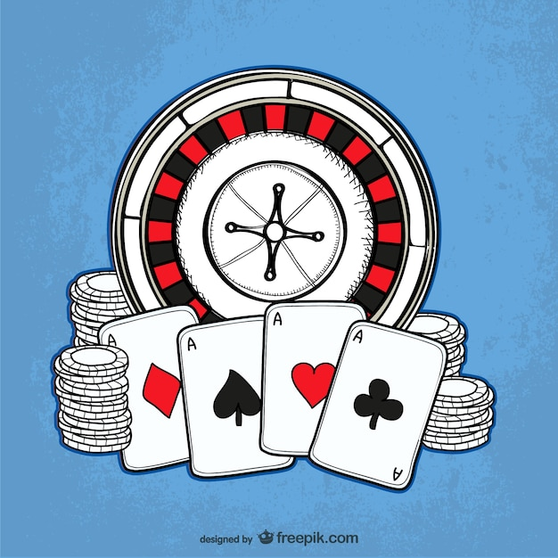 Casino drawing vector Free Vector