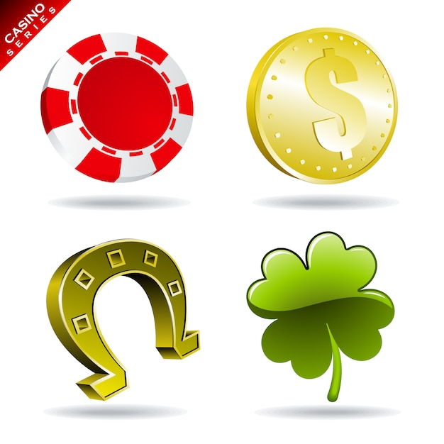 Casino elements design Free Vector