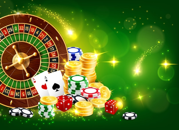 Casino fortune roulette,   gambling game Premium Vector
