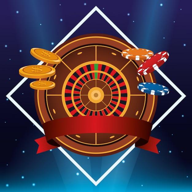 Casino gambling game Premium Vector