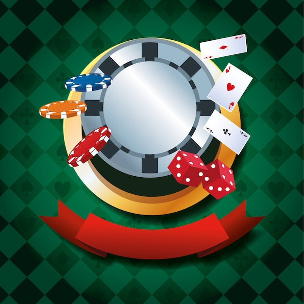 Casino gambling game Premium Vector